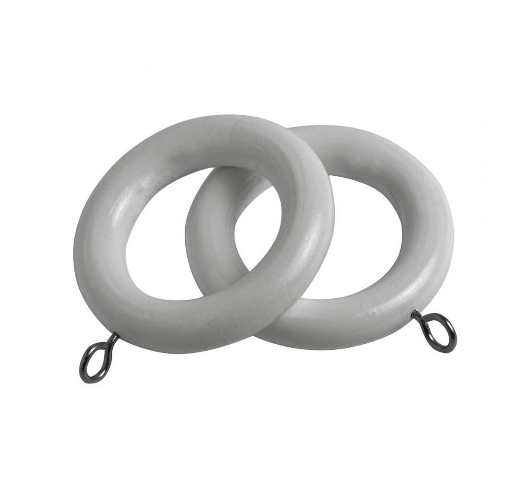 Speedy Victory  28mm Wooden Curtain Rings (Pack of 6) - Grey